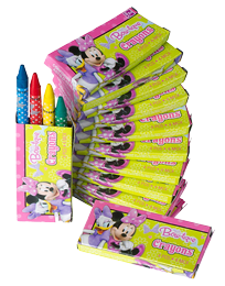 Minnie Mouse Mini Crayons pk12