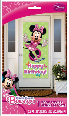 Minnie Mouse Door Poster
