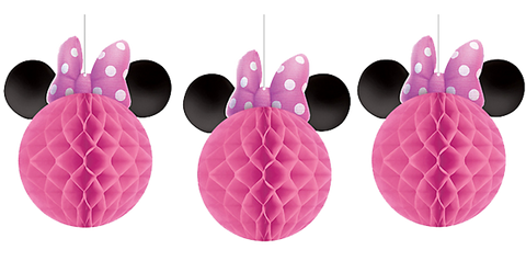 Minnie Mouse Honeycomb Decorations