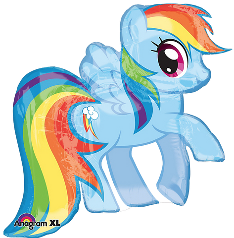 My Little Pony Rainbow Dash Foil Balloon