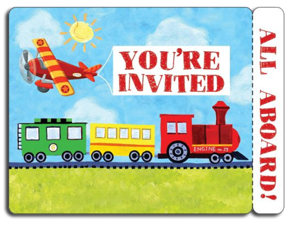 On The Go Party Invitations