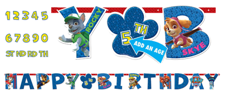 Paw Patrol Add an Age Birthday Banner
