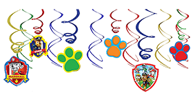 Paw Patrol Swirl Decorations