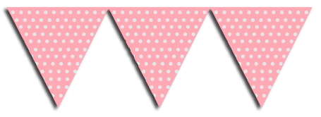 Pink Bunting Party Flags