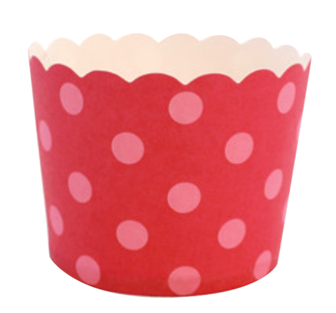Berry Pink Spot Cupcake Cases