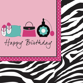 Pink Zebra Boutique Lunch Napkins