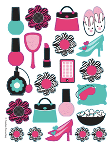 Pink Zebra Boutique Stickers