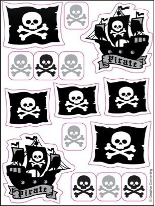 Pirate Parrty Party Stickers