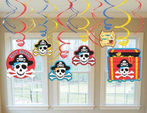 Pirate Swirl Decorations
