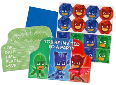 PJ Masks Invitations