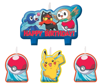 Pokemon Core Birthday Candles