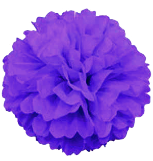 Purple Puff Ball Pom Pom Decoration
