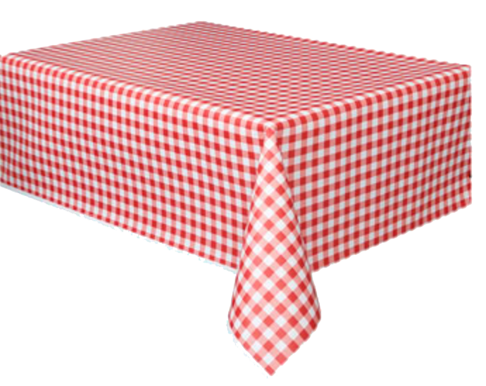 Red Gingham Table Cloth