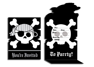 Pirate Parrty invitations