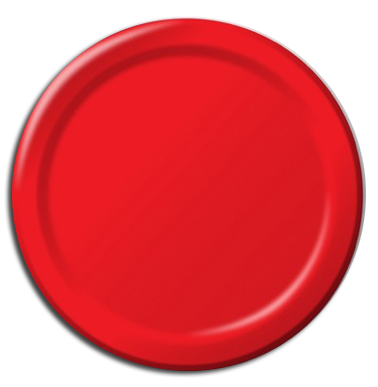 Red paper party plates