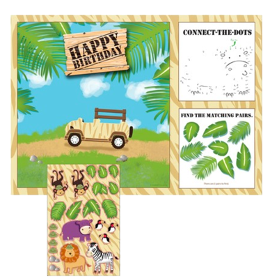 Safari Jungle Activity Placemats