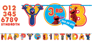 Sesame Street Happy Birthday Banner Kit