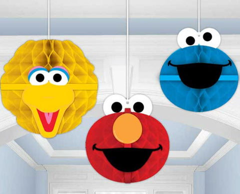 Sesame Street Honeycomb Decorations