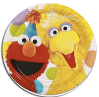 Sesame Street Party plates large