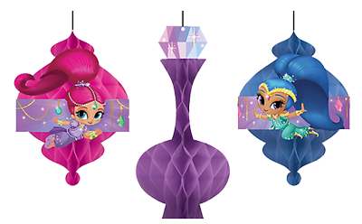 Shimmer and Shine Honeycomb Decorations