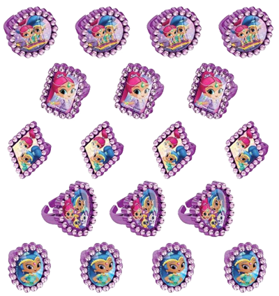Shimmer and Shine Jewel Party Rings pk18