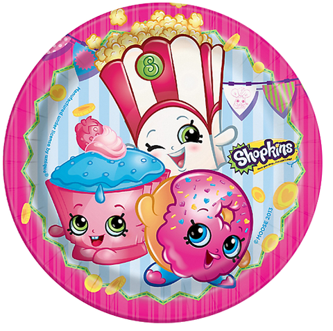 Shopkins Lunch Party Plates