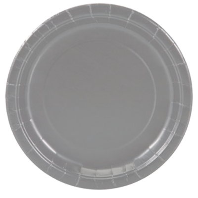 Silver  paper party plates