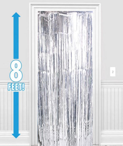 Silver Foil Metallic Curtain