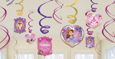 Sofia the 1st Swirl Decorations