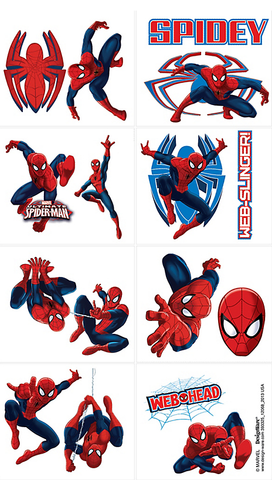 Spiderman Party Tattoos