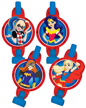 Super Hero Girls Party Blowers