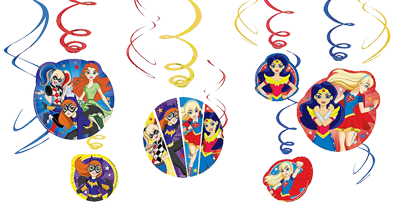 Super Hero GIrls Swirl Decorations