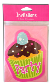 Sweet Treat Party invites - 8 per pack