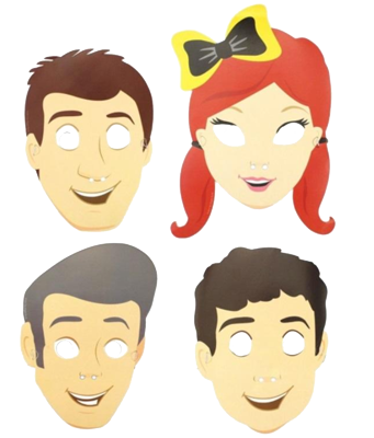 The Wiggles Party Masks