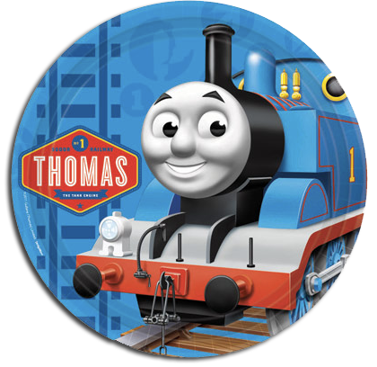 Thomas and friends party plates