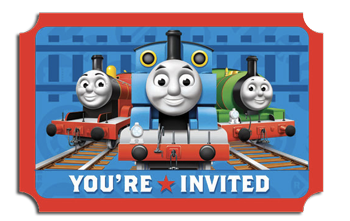 thomas friends party invites just for kids