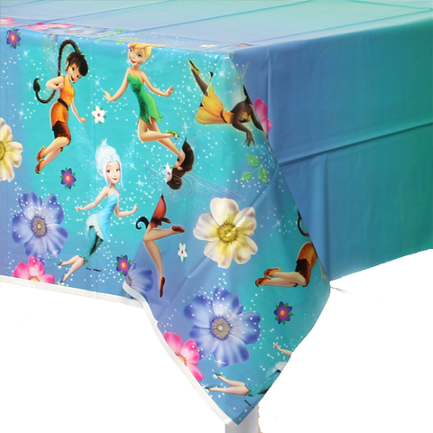 Tinker Bell and Friends Plastic Table Cloth