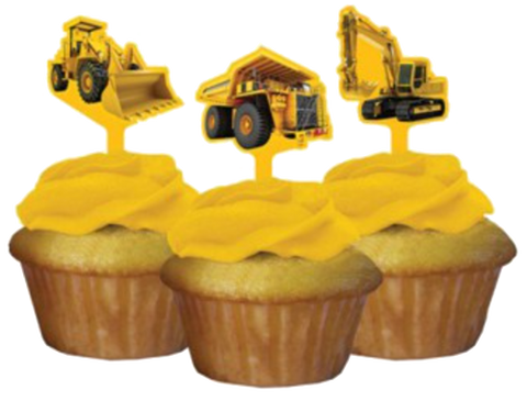 Under Construction Cupcake Toppers