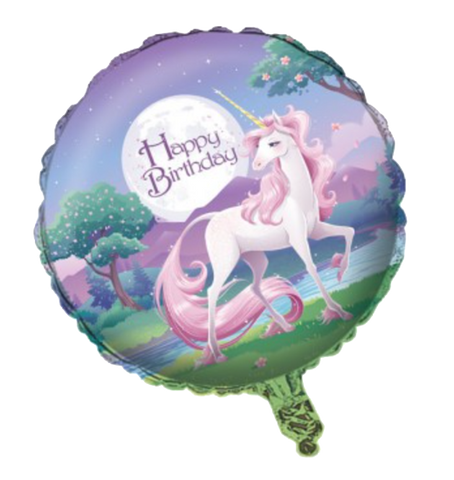 Unicorn Fantasy Happy Birthday Foil Balloon