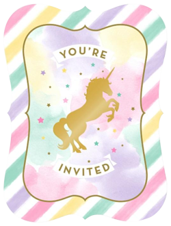 Unicorn Sparkle Party Invitations