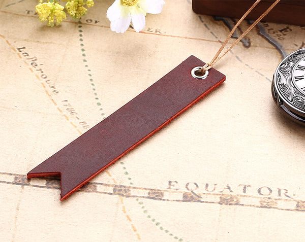 vintage retro strip leather bookmarks