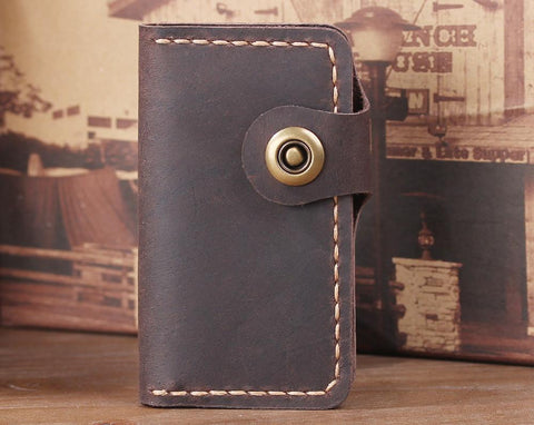 Handmade Vintage Leather Key Wallet - Aimee Creative LLC
