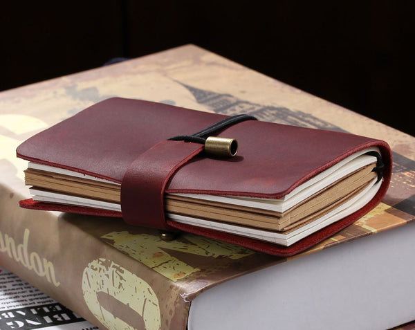 leather travel notebook