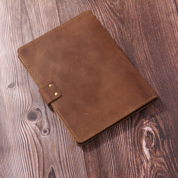 Personalized Leather A5 Portfolio,Leather A5 Padfolio, Personalized Document Organiser, Custom Leather Document Folder for Legal pad 5 x 8