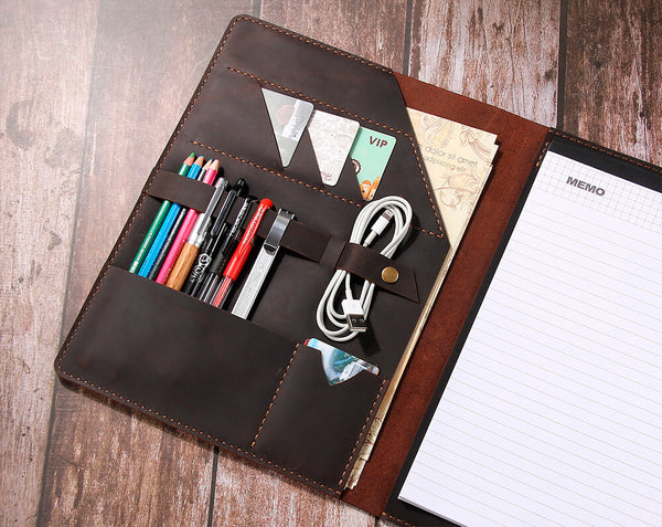 A4 leather Padfolio