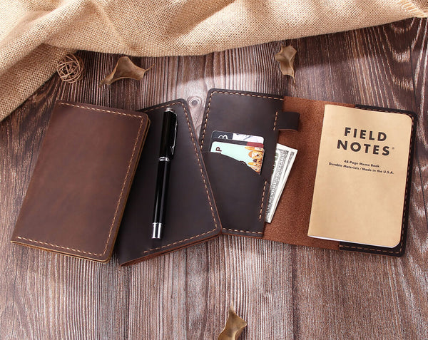 personalized leather field notes cover