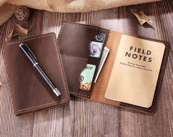 handmade leather field notes cover