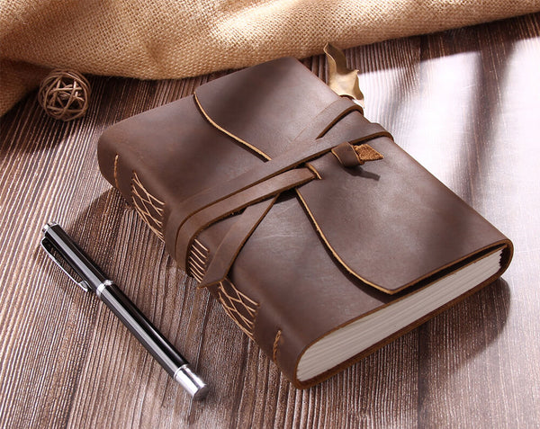 rustic leather journal