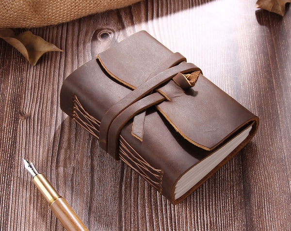 handmade Leather travel journall