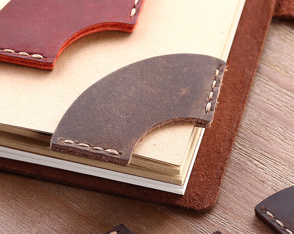 leather corner bookmark